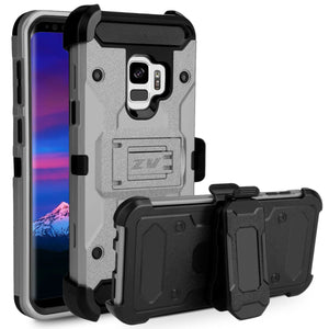 ZV Tough Armor Holster Galaxy S9 Case - Gray