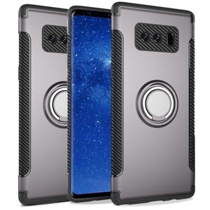 MPC Ring-stand Hybrid Carbon Armor Galaxy Note 8 Case - Gray