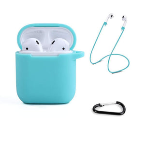 Soft Silicone Cover for Apple AirPods 1 & 2 Charging Case - Turquoise