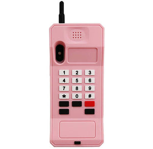 RETRO 3D iPhone X / XS Case - Soft Pink Wireless Telephone