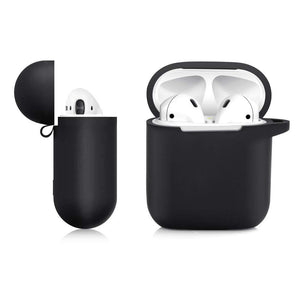 Soft Silicone Cover for Apple AirPods 1 & 2 Charging Case - Black
