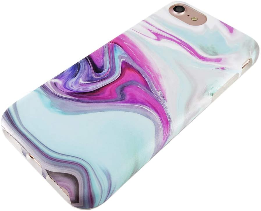 Vintage Marble IMD iPhone SE 2nd (2020) / iPhone 6/7/8 Case - Mint Pink