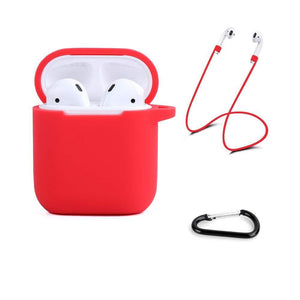 Soft Silicone Cover for Apple AirPods 1 & 2 Charging Case - Red