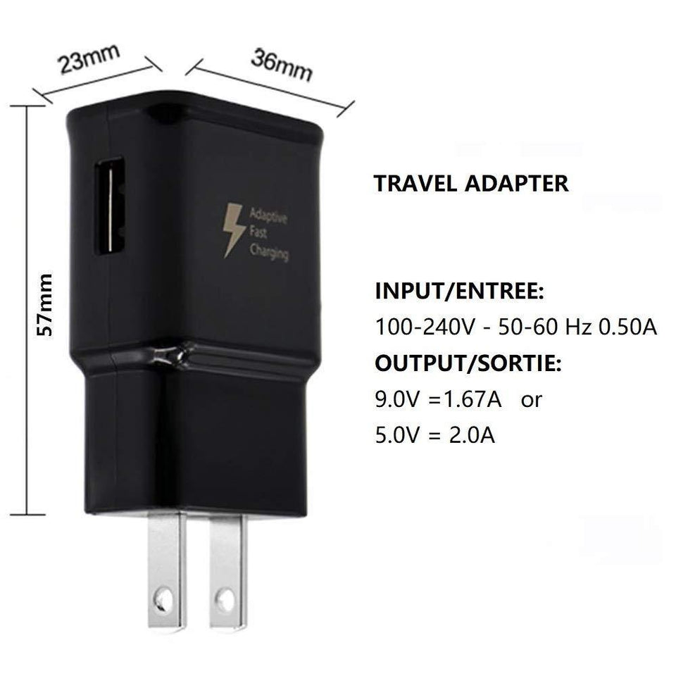 Samsung Adaptive Fast Charging Wall Charger w/ USB Type-C Cable