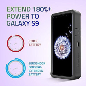 ZeroLemon ZeroShock Galaxy S9 Battery Charging Case - 8000mAh *Openbox