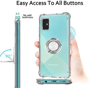 Crystal Bumper w/ Rotating Metal Ring Galaxy A51 (Not 5G) Case - Clear