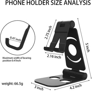 Adjustable Phone / Tablet Desk Stand Phone Holder Cradle Dock - 3 Pack Combo