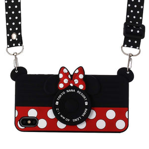 MPC 3D Silicone Cartoon Minnie's Camera iPhone 11 Pro Case w/ Lanyard