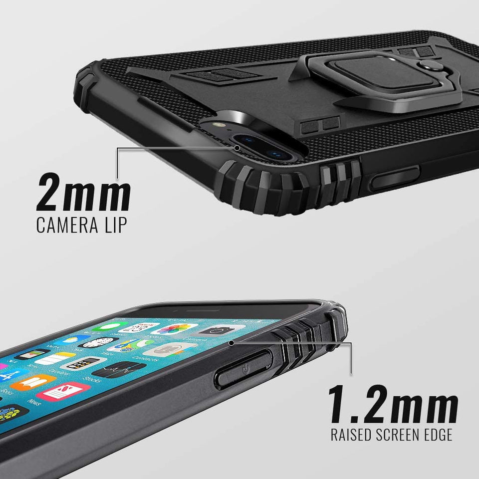 Shockproof Rugged Carbon Ring Stand iPhone 6s/6 Plus Case