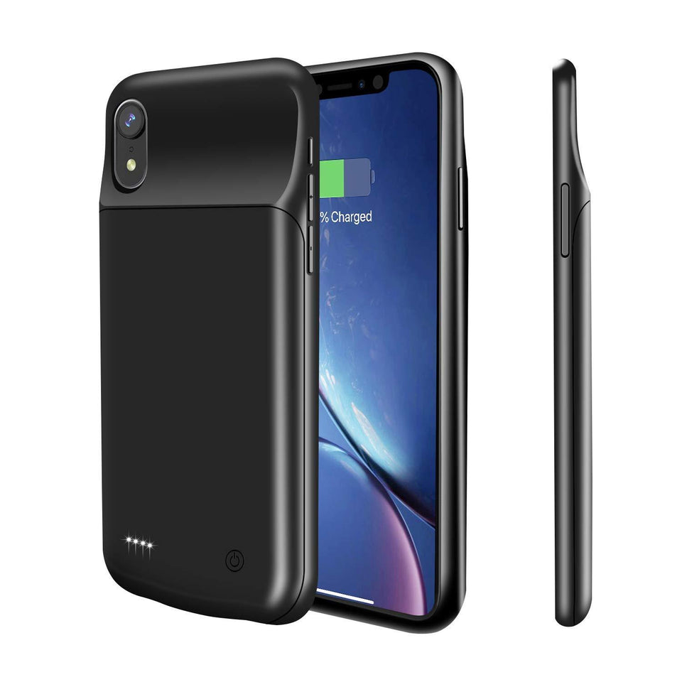 iPhone XR Battery Case with Lightning Port 4000mAh - Black