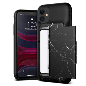 VRS Design Damda Glide Shield iPhone 11 Case - Black Marble