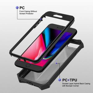 Dual Armor Full Body Hybrid iPhone 7 Plus / 8 Plus Case - Black