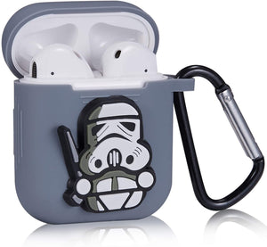 Soft Silicone Cover for Apple AirPods Charging Case - 3D StarWars
