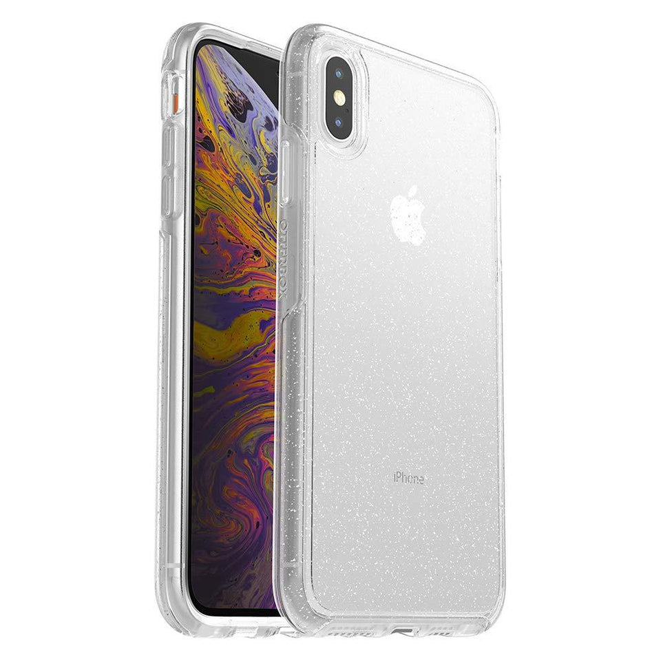 OtterBox SYMMETRY iPhone Xs Max Case - Stardust (Silver Flake/Clear)