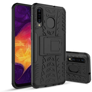 Tough Armor Kickstand Galaxy A20 (2019) Case - Black