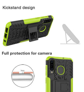 Tough Armor Kickstand Galaxy A50 (2019) Case - Green