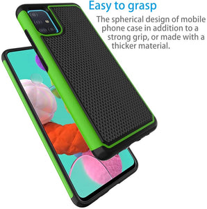 Rugged Heavy Duty Armor Galaxy A51 (Not 5G) Case - Green