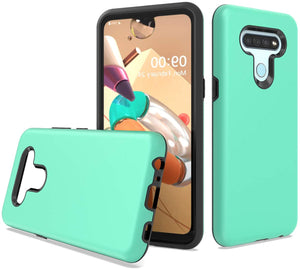 Dual Armor Hybrid LG K51 Case - Teal Green(Mint)