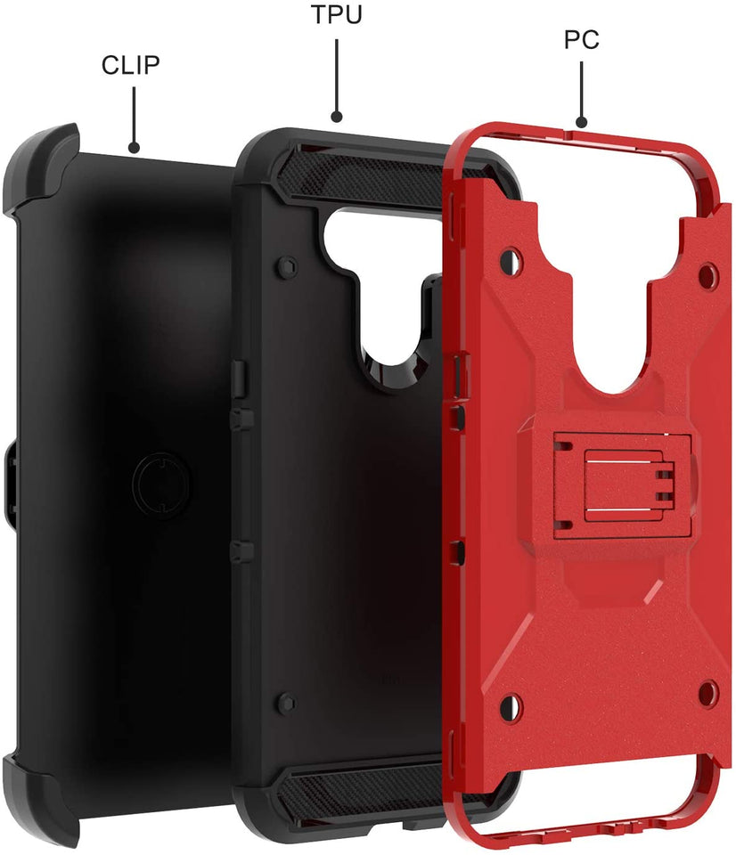 Storm Tank Rugged Defender LG K51 Case Holster - Red