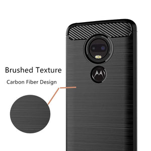 Slim Carbon Protector Motorola Moto G7 Play Case - Black