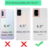 Hybrid Armor w/ Ring Stand Galaxy A51 (Not 5G) Case - Clear/Black