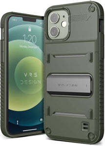 VRS Damda Quick-Stand iPhone 12 / 12 Pro Case - Military Green