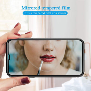 "iPhone X / Xs (5.8"") Mirror Screen Protector Tempered Glass - Silver"