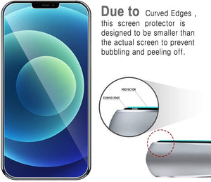 [3-Pack] Anti-Scratch [iPhone 12 / 12 Pro] Tempered Glass Screen Protector