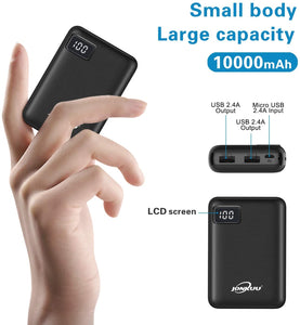 JNT Mini 10000mAh Quick Charge 2.4 A Power Bank External Battery LCD