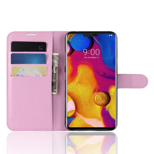 Essential Leather Wallet LG V40 ThinQ Case - Pink