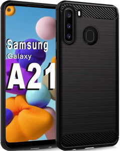 Brushed Carbon Hybrid TPU Galaxy A21 (2020) Case