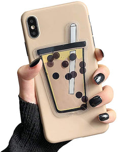 Koolcase Quicksand Liquid iPhone X / Xs Case - Bubble Tea Boba
