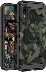 Rugged Armor Kickstand Galaxy A50/A30/A20 (2019) Case - Camouflage