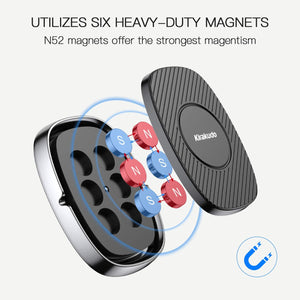Universal Magnetic Car Phone Mount Holder w/ 6 Strong Magnets [2 Pack]