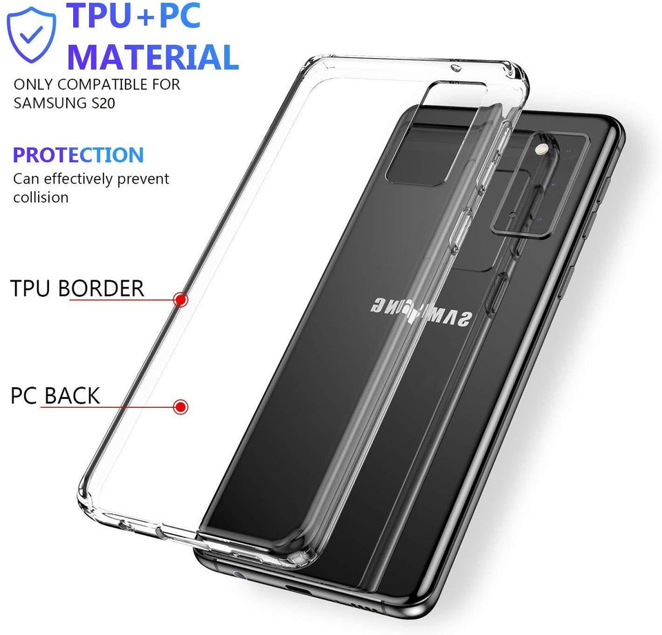 MPC Ultra Thin Shockproof Galaxy S20 Case - Crystal Clear