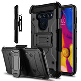 Storm Tank Rugged Armor LG V40 ThinQ Case Holster - Black