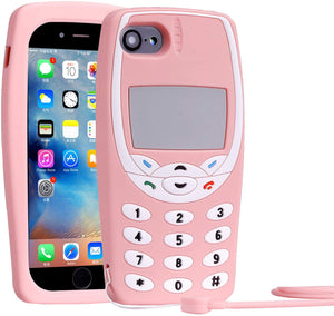RETRO 3D iPhone 6 Plus/6s Plus Case - Soft Pink Classic Wireless Phone