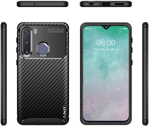 Shock Resistant Carbon Bumper Galaxy A21 (2020) Case - Black