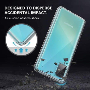Shock Absorption Crystal Armor Galaxy A51 (Not 5G) Case - Clear