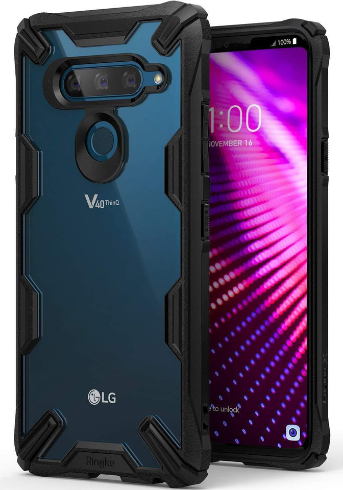 Ringke [Fusion-X] LG V40 ThinQ Case - Black