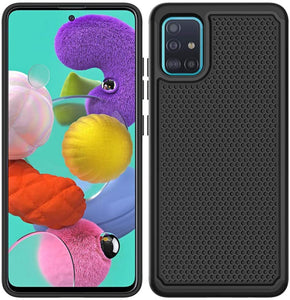 Rugged Heavy Duty Armor Galaxy A51 (Not 5G) Case - Black
