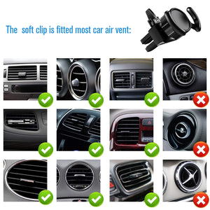 Car Phone Mount 360 Rotation Air Vent Clip Pop Expanding Stand Grip Holder