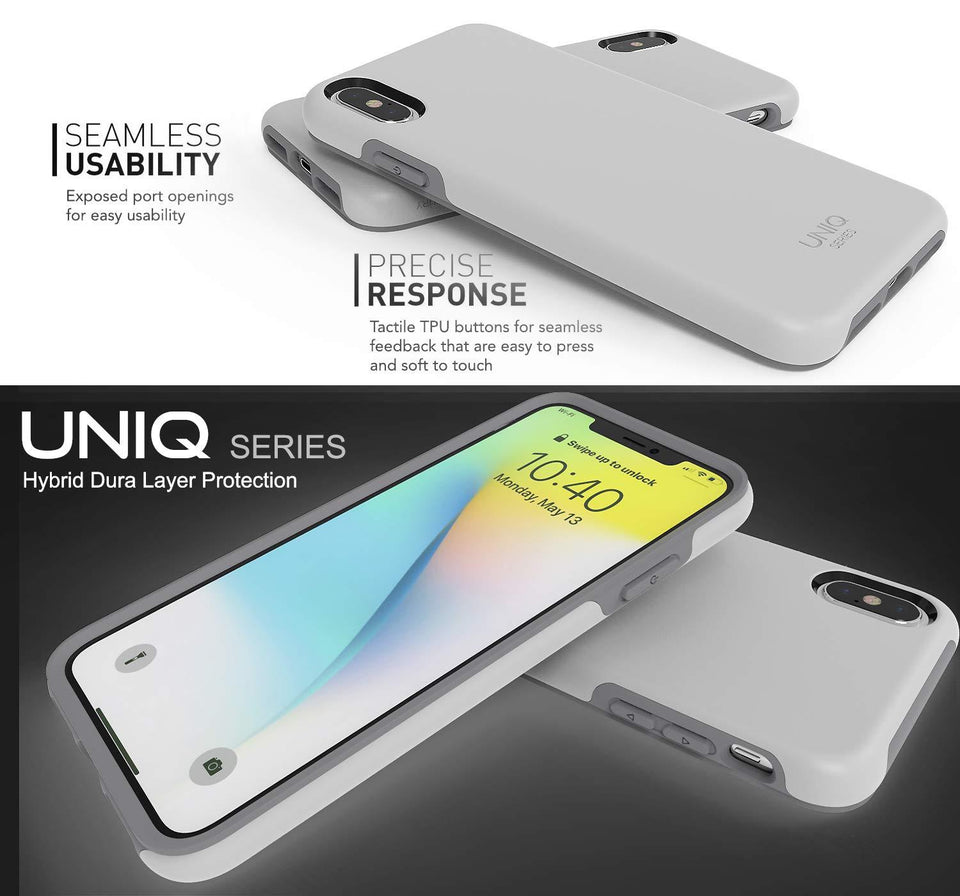 "UNIQ Slim Protector iPhone Xs Max (6.5"") Case - Light Gray"
