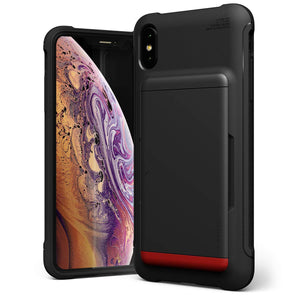 "VRS Damda Glide iPhone Xs Max (6.5"") Wallet Case - Matte Black"
