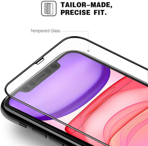 "3-Pack Full Cover Tempered Glass Screen Protector for iPhone 11 / XR (6.1"")"