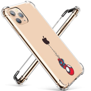 Ultra-Thin Transparent Bumper iPhone 11 Pro Case - Cute Spidey