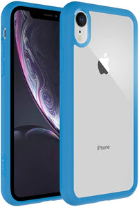 "ELC Air Bolster iPhone XR (6.1"") Transparent Bumper Case - Matte Blue"