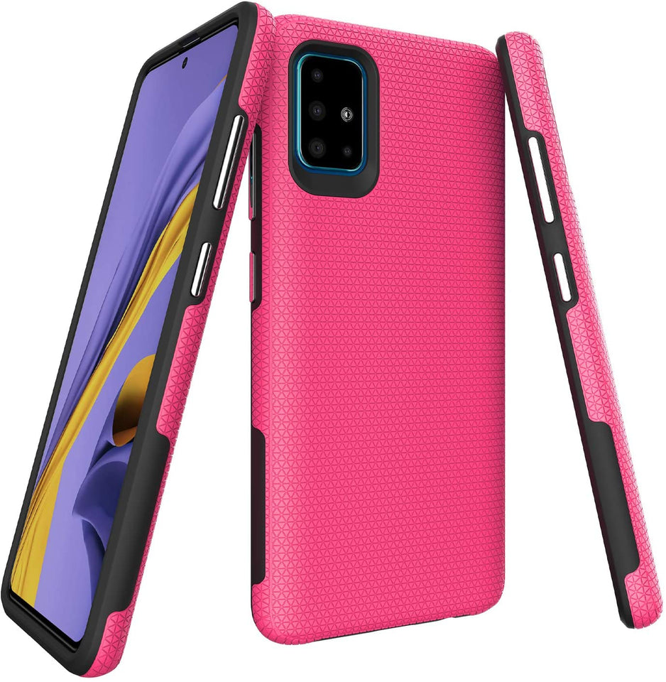 Dual-Pro Enhanced Grip Galaxy A51 (Not 5G) Case - Pink