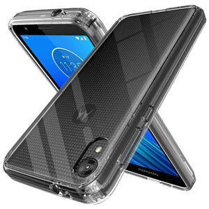 Air Armor Shockproof Bumper Moto E6 Case - Clear/Clear