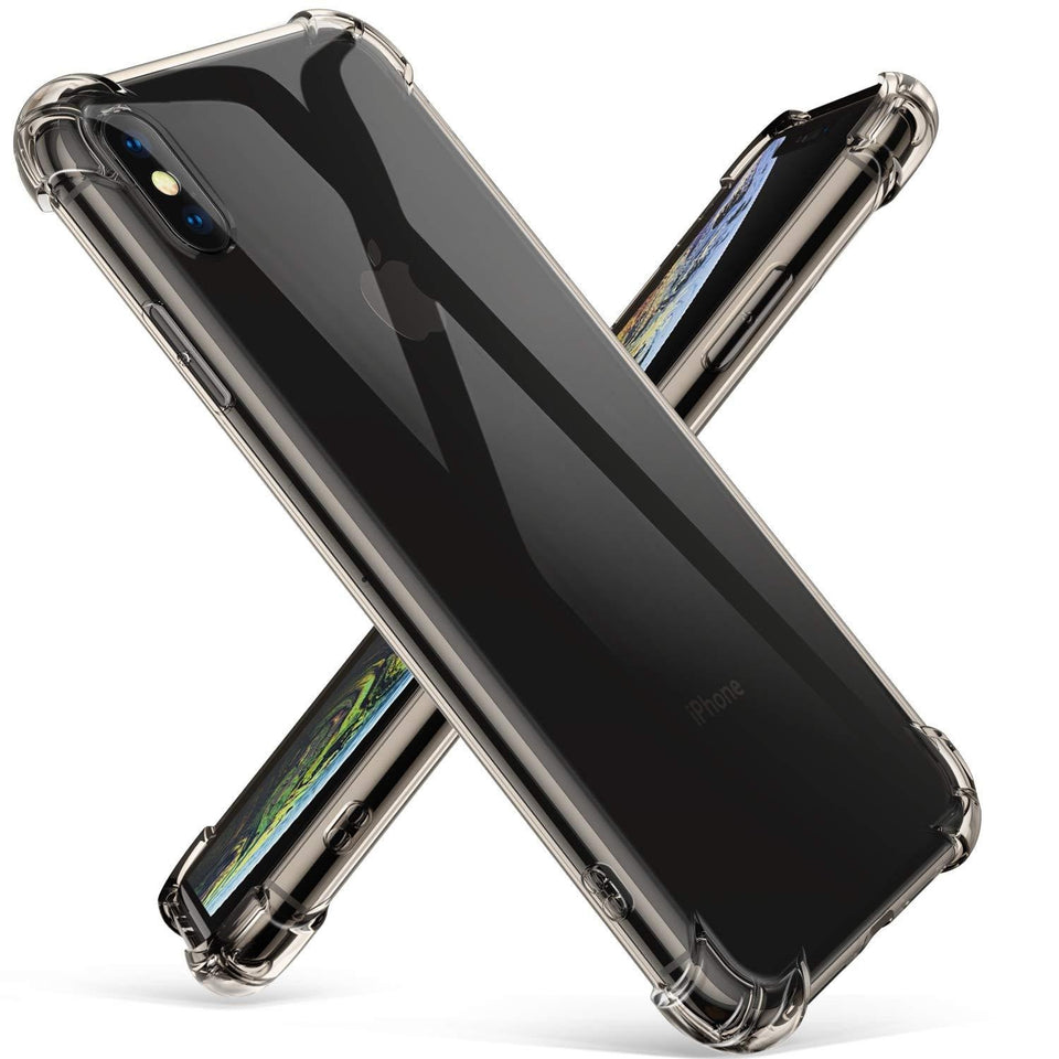 Shock Absorption Bumper iPhone XS MAX Case - Smoke